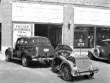 1937 Oldsmobile and Indian Motorcycle at the Norfolk Motor Company, Inc., 1938 - Norfolk, Virginia